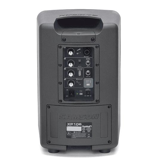 Caja activa Samson XP106 con micrófono y bluetooth