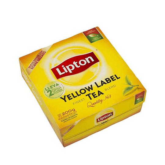 Té Lipton Yellow Label Caja de 100 bolsitas
