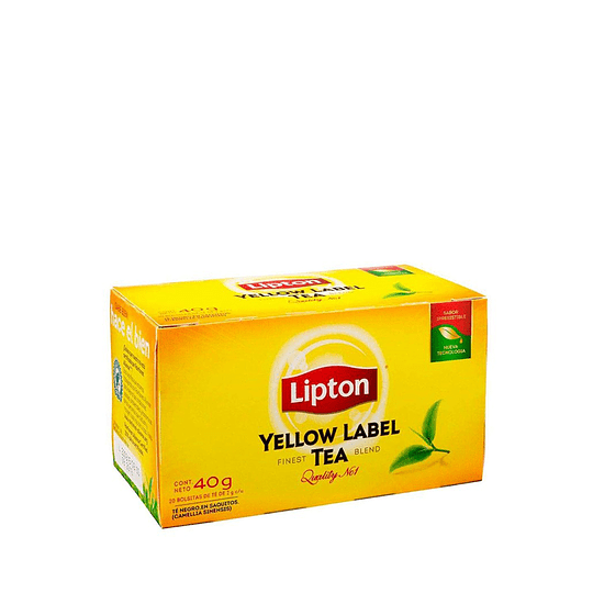 Té Lipton Yellow Label Caja de 20 bolsitas