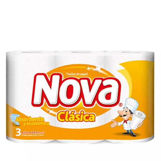Papel Toalla Nova Clásica x 3 unidades