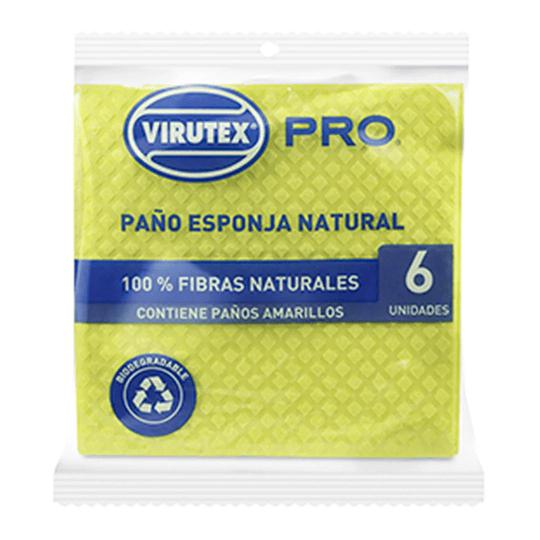 Paño Esponja Natural x 6 unidades