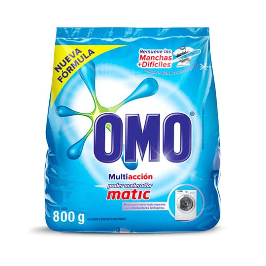 Detergente en Polvo Omo Matic 800g