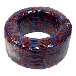 Cable Jumper Azul-Rojo 2 conductores 24AWG 100m
