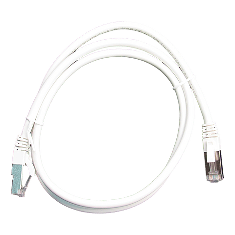 Patch Cord CAT 6A NHTD FTP LSZH 26 AWG Blanco 1 m