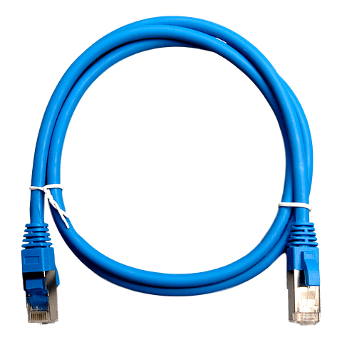 Patch Cord CAT 6A NHTD FTP LSZH 26 AWG Azul 1 m