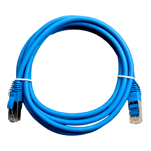 Patch Cord CAT 6A NHTD FTP LSZH 26 AWG Azul 3 m