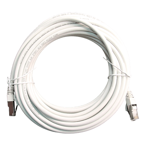 Patch Cord CAT 6A NHTD FTP LSZH 26 AWG Blanco 10 m