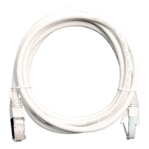 Patch Cord CAT 6A NHTD FTP LSZH 26 AWG Blanco 2 m