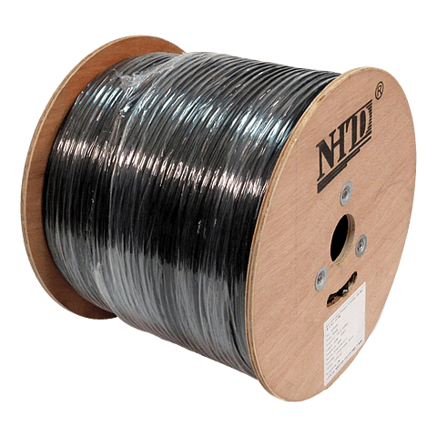Cable SFTP Cat 6 NHTD 305m 4 Pares 23AWG Negro Exterior Blindaje con Malla