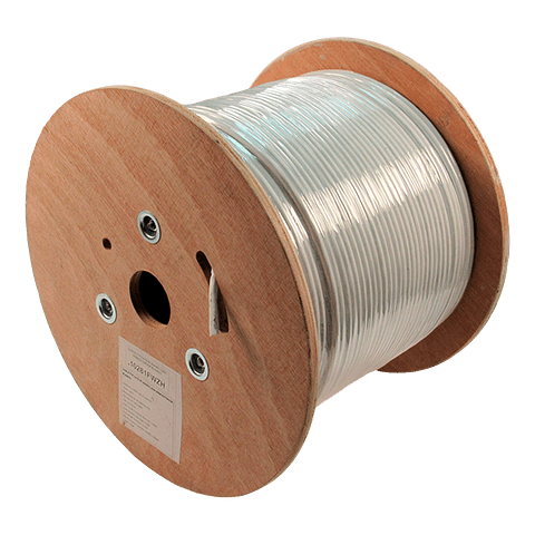 Cable FTP Cat 6 305m 4 Pares 24AWG Blanco Exterior Blindaje