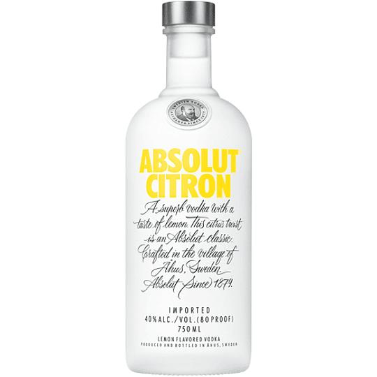 Vodka Absolut Citron 750cc