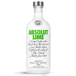 Vodka Absolut Lime 750cc