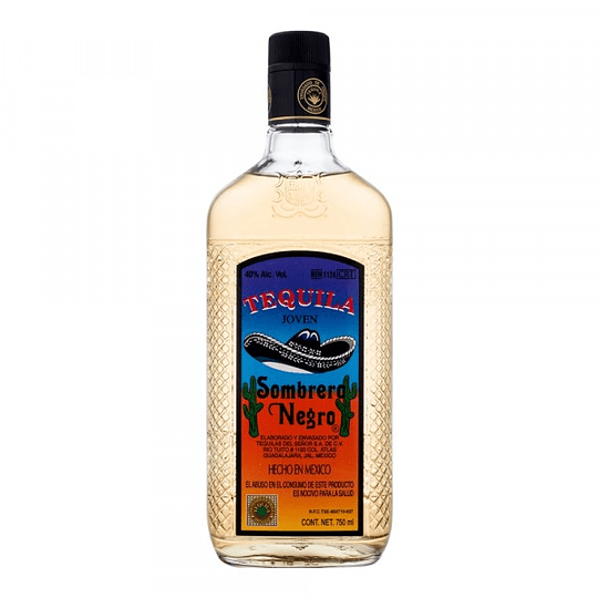 Tequila Sombrero Negro Dorado 750cc