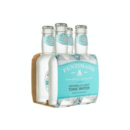 Pack 4x Fentimans Naturally Light Tonic Water Bot. 200cc