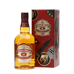 Whisky Chivas Regal 12 años 750cc Tin Box