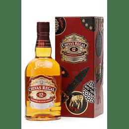 Whisky Chivas Regal 12 años 750cc Tin Box