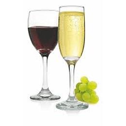 Set 12 Copas:  6x Copas Champagne + 6x Copas Vino