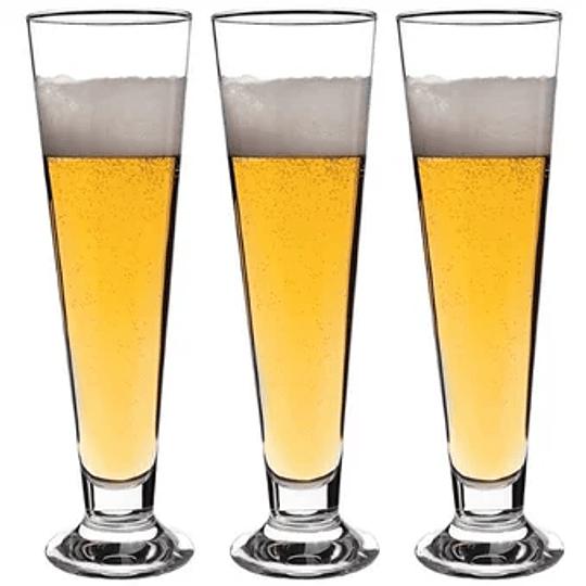 Set 3 Garza Cerveza Palladio 385cc