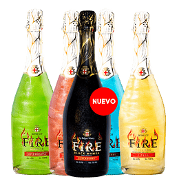 Espumante Wine Of Fire Con Brillo 6° Variedades 750cc