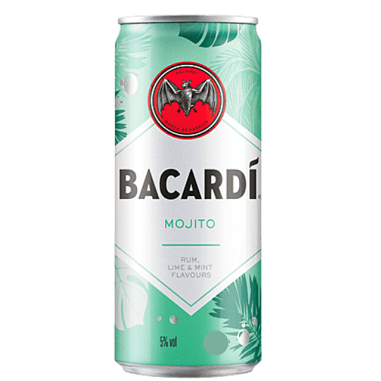 Cóctel Mojito Bacardi 5° Lata 330cc
