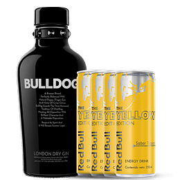 Pack Gin Bulldog + Four Pack Tropical  Red Bull