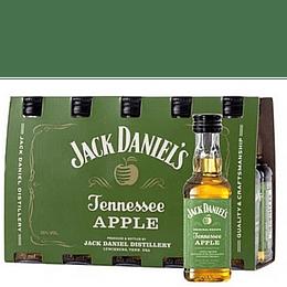 Pack 10x Whisky Jack Daniels Apple Miniatura 50cc