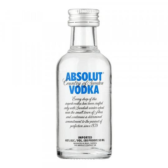 Pack 12x Vodka Absolut Blue 40° Miniatura 50cc
