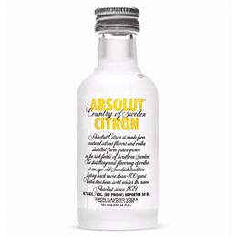 Pack 12x Vodka Absolut Citron 40° Miniatura 50cc