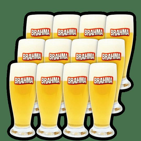 Set 12x Vaso Cervecero Brahma 250cc