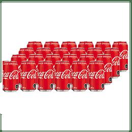 Pack 24x Bebidas Coca Cola Original Lata 350cc