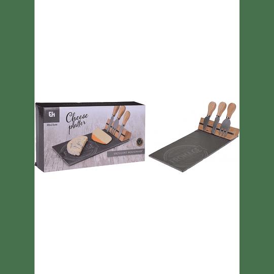 Set Tabla para Quesos + Cuchillos