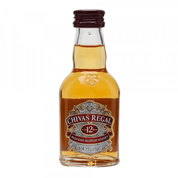 Whisky Chivas Regal 12 Años Miniatura 50cc