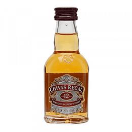 Pack 12x Whisky Chivas Regal 12 Años Miniatura 50cc