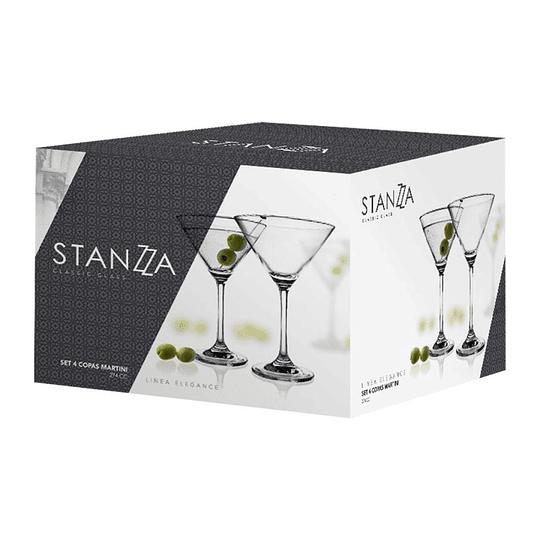 Set 4x Copas Martini Elegance 274cc