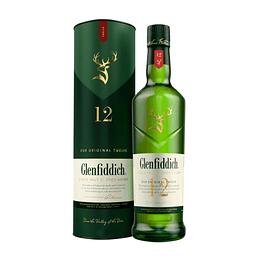 Whisky Single Malt Glenfiddich 12 Años 40° 1 Litro