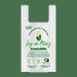 Bolsa Camiseta Biodegradable 32x40 (Sin Logo)