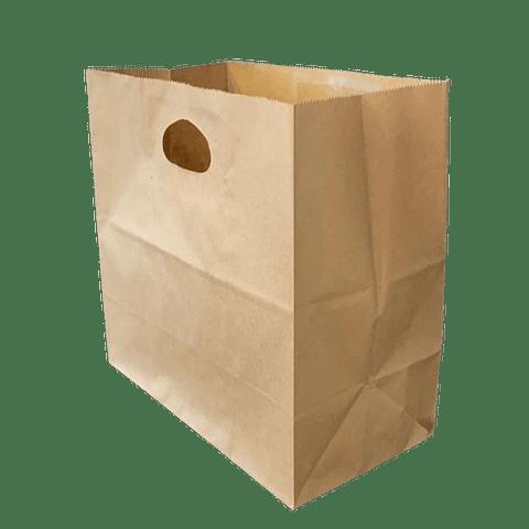 Bolsa Kraft Manilla Troquelada 27x27x15