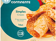 CREPES SIMPLES CONTINENTE  EMBALAGEM 16 UNIDADES 1KG