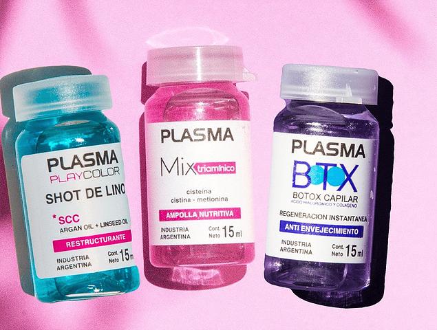 Pack 3 Ampollas Plasma: Botox, Mix Triaminico y Shot de lino