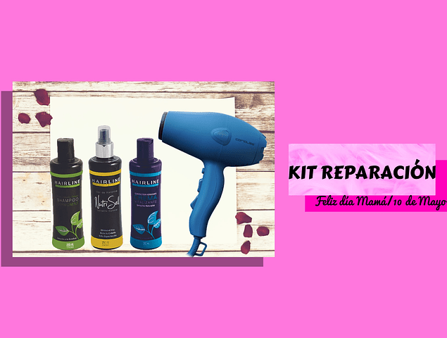 Kit Reparación Capilar + Secador Profesional