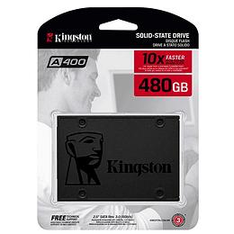 "Disco Solido SSD Kingston SSDNow A400 480GB, Sata III, 2.5"" 7mm"