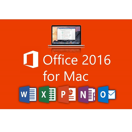 Office 2016 Hogar y Empresas Licencia Original Permanente 1 MAC