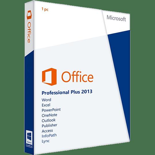 Microsoft Office 2013 Professional Licencia Original Permanente 1PC Descarga Digital
