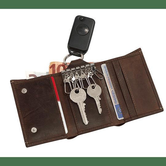 "Porta chaves em pele ""Wild style"""