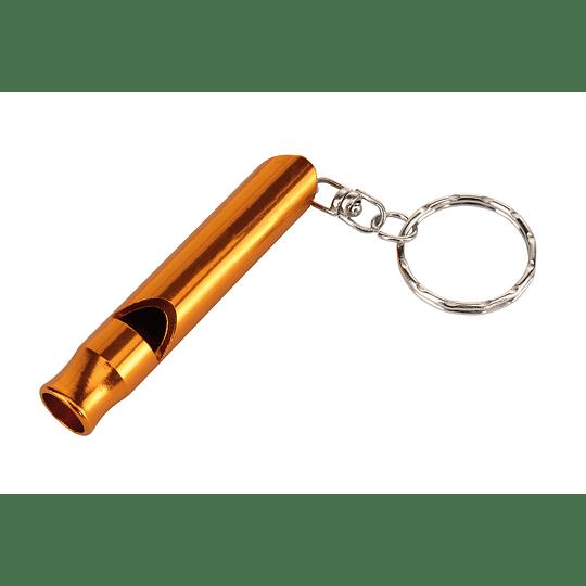 """Porta chaves """"Flute"""" com apito"""