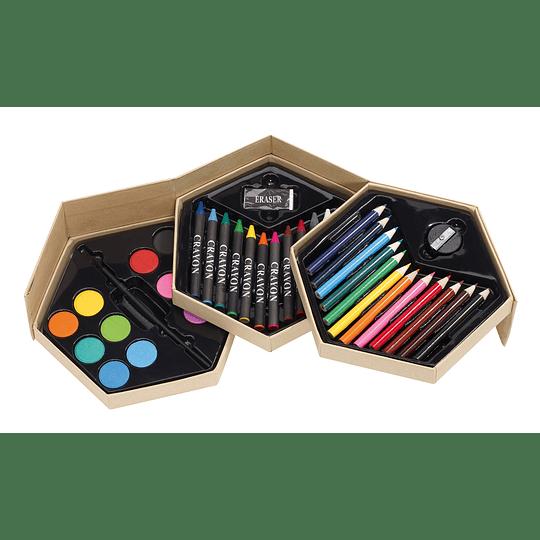 """Conjunto de colorir """"Colourful level"""""""