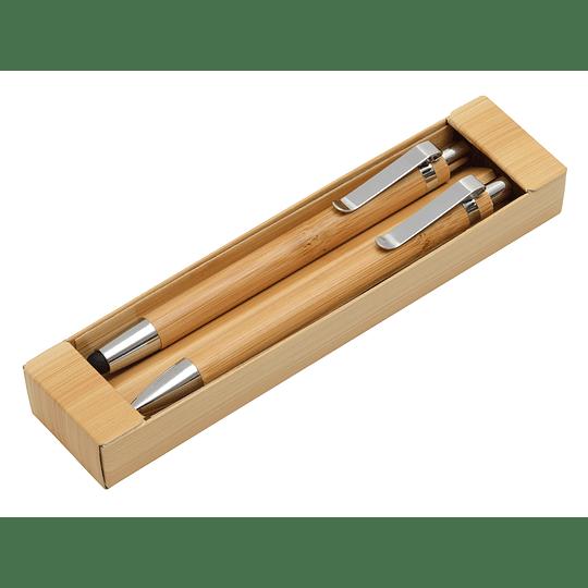 """Conjunto escrita """"Double Bamboo"""""""
