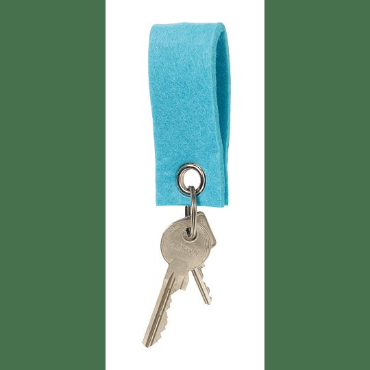 "Porta chaves ""Felt"" com ilhós"