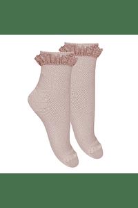 Calcetines cortos con puntilla plisada
