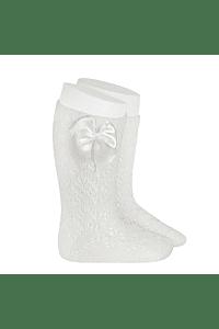 Calcetines altos de Perle calados geometrico con Lazo - Nuevos